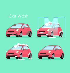 car wash concept washing vector image