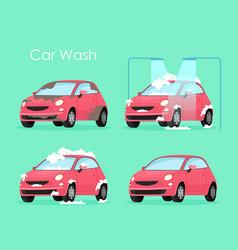 car wash concept washing vector image
