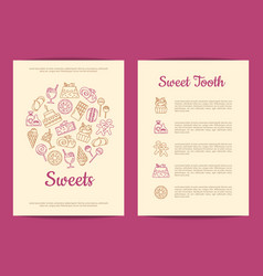 card or flyer template for pastry or vector image