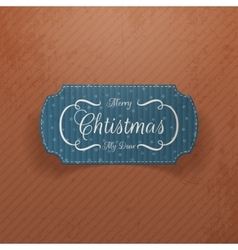 Christmas cardboard greetings Card for Your Design vector image