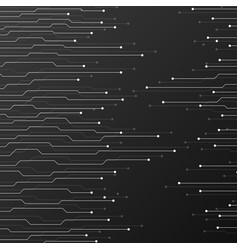 Circuit board on black background vector
