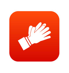 clapping applauding hands icon digital red vector image