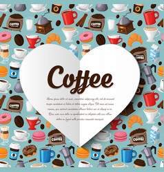 Colorful coffee background vector image