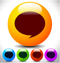 Colorful speech bubbles icon editable graphics vector