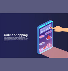 concept online shopping from smartphone vector image