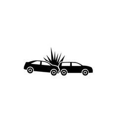 crashed cars flat icon vector image