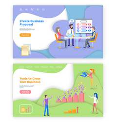 Create business proposal tools to grow project vector