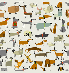 Cute dogs collection seamless pattern for your vector