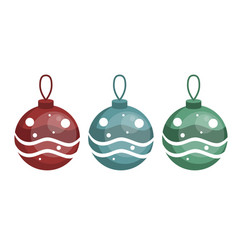 decoration balls on the fir-tree vector image