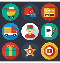 Ecommerce Icons Color vector