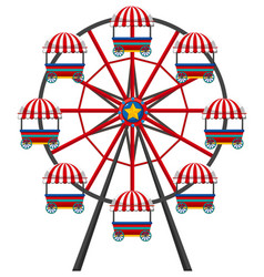 Ferris wheel on white background vector
