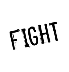 Fight rubber stamp vector image