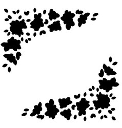 Flowers black ornament silhouette flower pattern vector