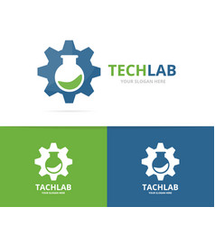 gear and bulb logo combination mechanic vector image
