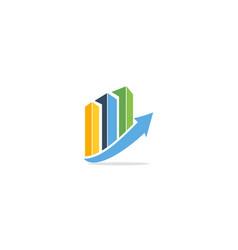 Graph statistic arrow company logo vector