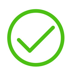 green check mark vector image