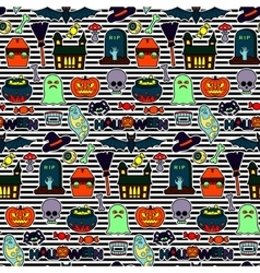 Halloween Patches Seamless Pattern vector