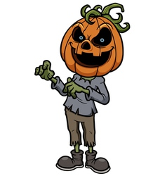 Halloween pumpkin monster vector image
