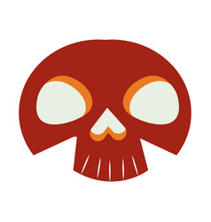Halloween skull head isolated icon vector