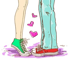 Legs of couple in love vector