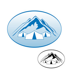 Logo rest in the mountains vector