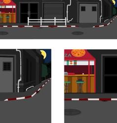 Long street at night vector