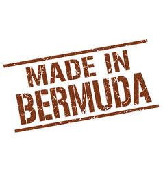 made in bermuda stamp vector image