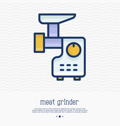 Meat grinder thin line icon vector