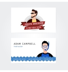 Modern Creative and Clean Business Card vector image