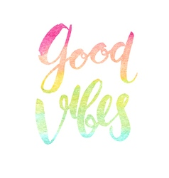 Motivation poster Good vobes vector