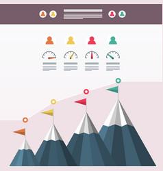 mountain cimbing business infographic design vector image