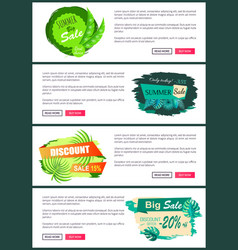 online posters set discount off summer big sale vector image