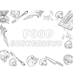 Organic food background vector