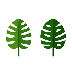 palm leaves green flat icons vector image