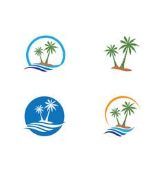 Palm tree logo template vector