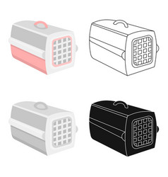Pet case icon in cartoon style isolated on white vector