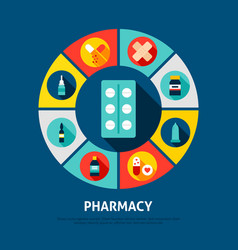 pharmacy concept icons vector image
