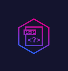 Php trendy icon vector