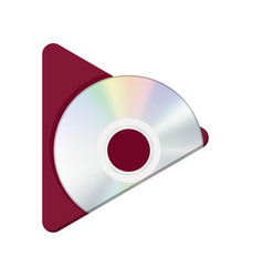 Play cd button vector