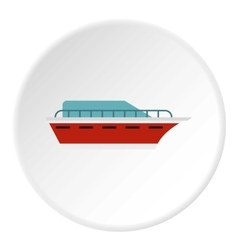 Powerboat icon flat style vector