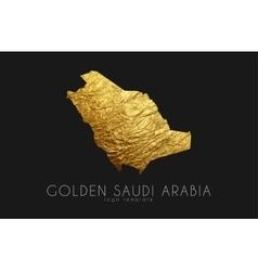 Saudi arab map golden arab logo creative vector