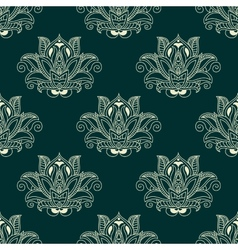 Seamless abstract paisley flower buds pattern vector image