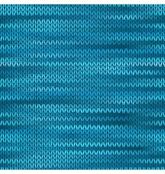 Seamless Knitted Melange Pattern Blue Turquoise vector image vector image