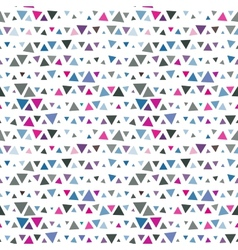 Seamless pattern of triangles pink and blue on vector