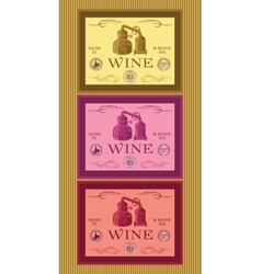 Set of labels for bottles of wine or menu vector