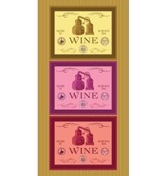 set of labels for bottles of wine or menu vector image