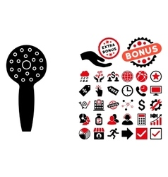 Shower Head Flat Icon with Bonus vector image