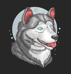 siberian huskey vector image