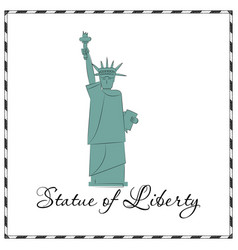 Statue of liberty new york landmark american vector
