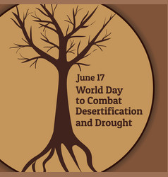 The world day to combat desertification and vector